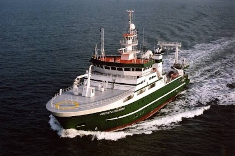 The new vessel will be a sister ship to the State's largest research ship, the 65m RV Celtic Explorer (above)