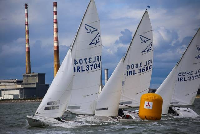 Flying Fifteens racing on Dublin Bay