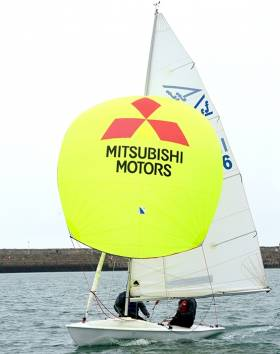 The new 'Yellow Jersey' spinnaker for the Flying fifteen clubhouse leader in 2016  DBSC racing
