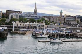 Interlinking sea and waterfront – the classic Royal St George Yacht Club in Dun Laoghaire this weekend hosts the Frank Keane BMW George Regatta