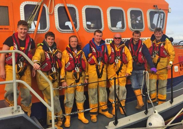 The crew of Courtmacsherry RNLI's all-weather lifeboat