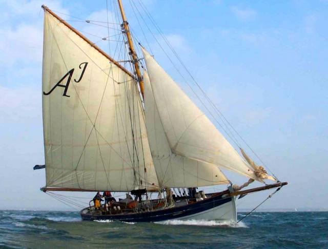 How about this for the Editorial Office? The 55ft steel cutter Annabelle J is cruised extensively by incoming Irish Cruising Club Annual Honorary Editor Maire Breathnach of Dungarvan and her husband Andrew Wilkes