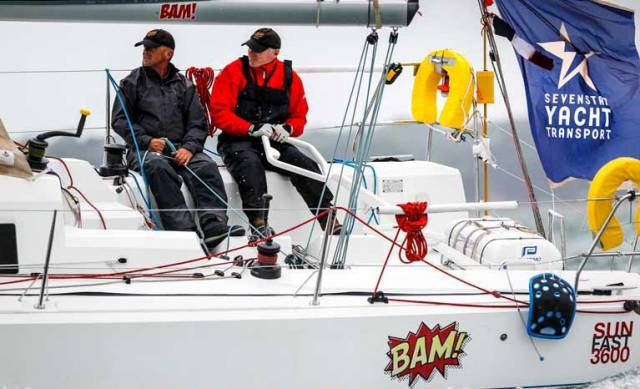 Howth's Conor Fogerty & Simon Knowles in Bam!, are offshore beyond Valentia Island. See pre race video interview with Fogerty below.