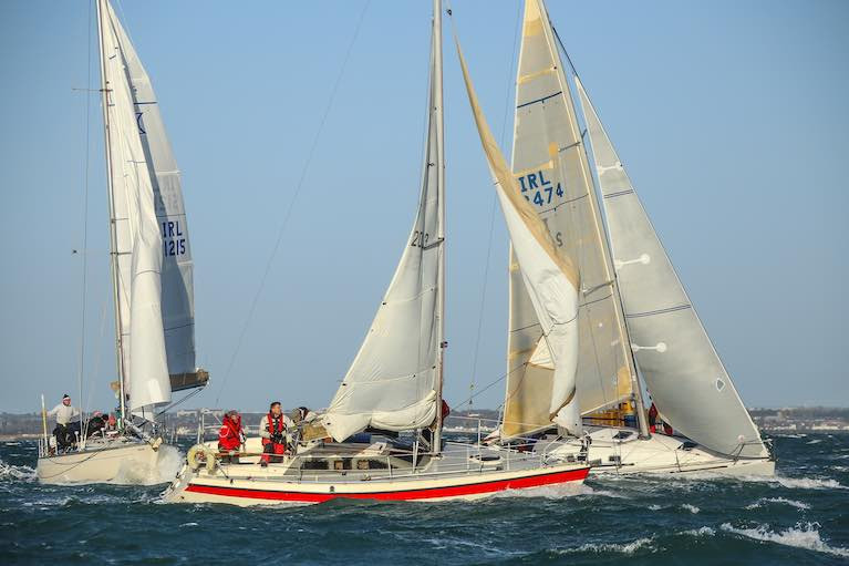 A previous edition of the DBSC Turkey Shoot racing on Dublin Bay