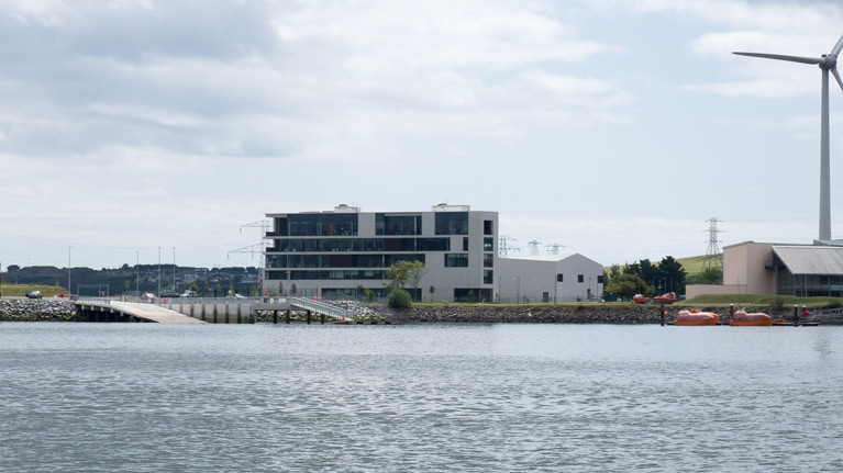 The new Paddy's Point public marine recreation area  in Cork Harbour that includes a new slipway and pier and is located next to UCC's Beaufort Research Laboratory (Maritime and Energy Research Building