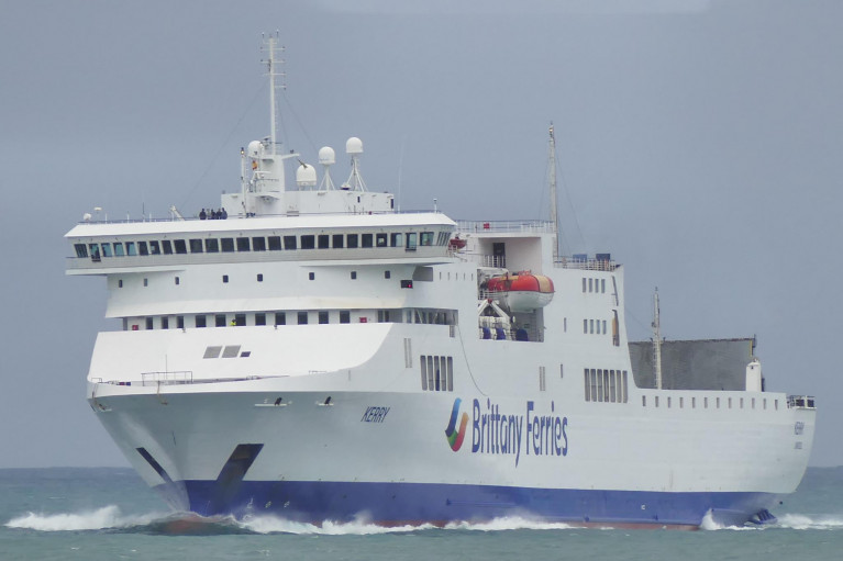 Brittany Ferries chartered ropax Kerry is tomorrow (Friday 28 Feb). due to make a revised maiden crossing departure time as Storm Jorge dictates sailing schedules on the new Ireland-Spain route between Rosslare Europort and Bilbao.