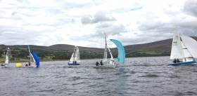 RS400s competing at Blessington Sailing Club