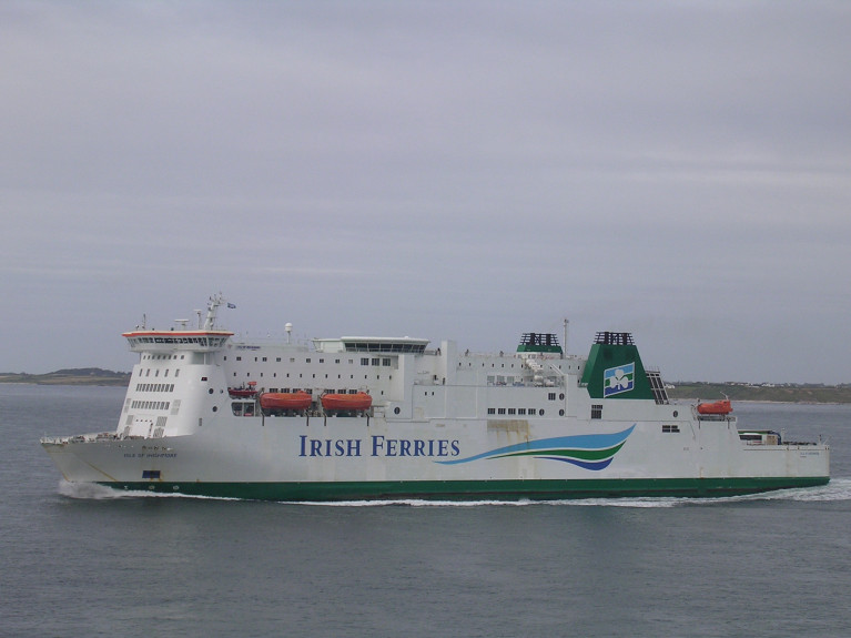 In a significant first for Irish Ferries, a subsidiary of Irish Continental Group (ICG), which is to launch a new service on the Dover – Calais route. The Strait of Dover service is planned to start in June 2021, with the transfer of the Isle of Inishmore to the UK-France route. ICG add further capacity will be added in the coming months. Replacing 'Inishmore' on the Rosslare-Pembroke Dock route will be another Mediterranean ferry (see: Ferry News 11th Feb) with the latest charter of ro-ro ferry Blue Star 1 from Greek based Attica Group, (Afloat adds operator of Superfast Ferries) for more on 'Superfast' sisters, see same story from last month.