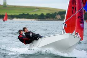 There were strong winds for the final day of the Mirror Europeans in Cork Harbour