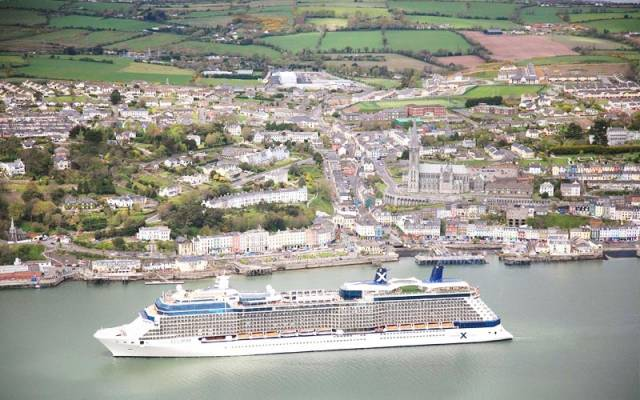 Celebrity Eclipse off Cobh was ranked second place at the inaugural Cruise Critic Cruisers' Choice Destination Awards