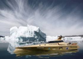 An artist's impression of Thunder Child 2 in Arctic waters next summer