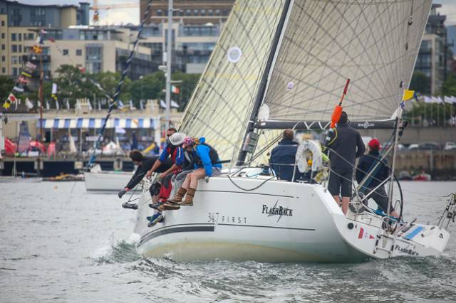 Paddy Gregory's Flashback took the Offshore lead at Dun Laoghaire Regatta this afternoon