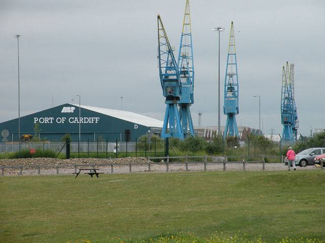The Welsh capital has among its (Lo-Lo) container feeder services those connecting Dublin Port and Warrenpoint Harbour. Above the Port of Cardiff's Queen Alexandra Dock.