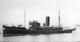 The patrol boat HMY Helga which became LE Muirchú as pictured above