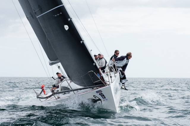 Swuzzlebubble skippered by Phil Plumtree (UK) leads at Kinsale's Half Ton Cup