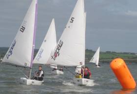 Topaz dinghy racing on the Shannon Estuary