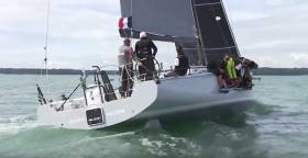 Frecnh yacht Teasing Machine features in this four minute video below on the Commodore's Cup