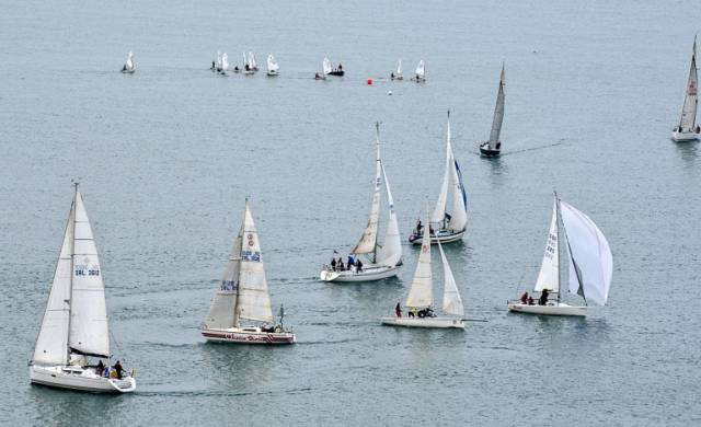 Light winds for yesterday's second race of the Royal Cork Winter League