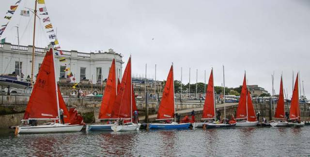 The Royal Irish Yacht Club in Dun Laoghaire is hosting the Squib Championships