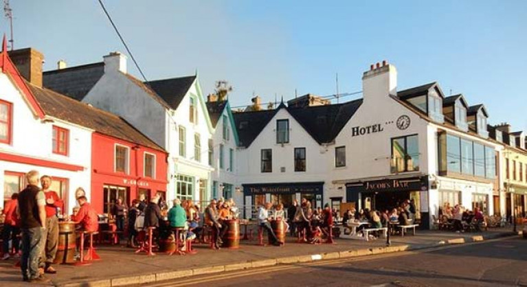 Baltimore in West Cork pictured on a normal sunny evening in summer time