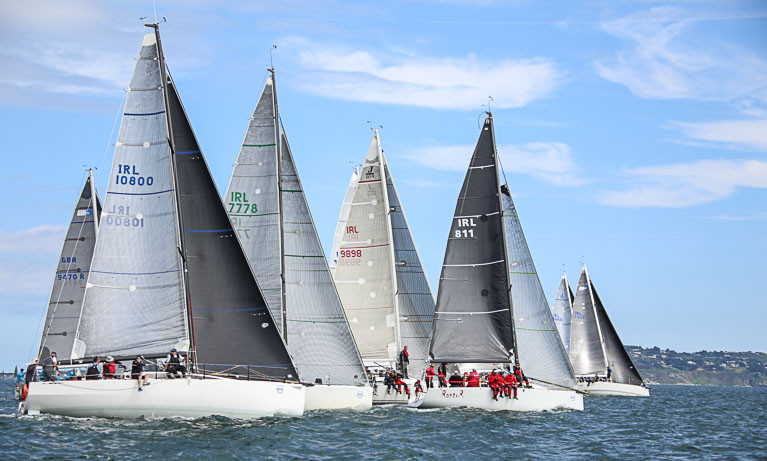 The format for Wave Regatta has been further modified to provide an additional 'round-the-cans' race for cruiser-racers on the Saturday morning before Howth Yacht Club's famous Lambay Race