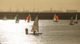 The decision was made to keep the  DBSC dinghy fleets inside Dun Laoghaire Harbour