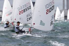 Ewan McMahon won Laser Radial youth silver on Dublin Bay