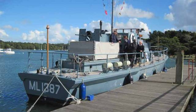 Star of Dunkirk Movie HMS Medusa is open to the public on the Bealieu river