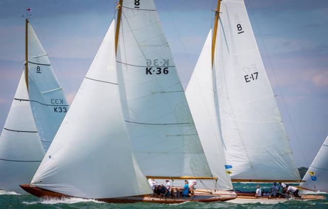 Eight metre yachts Helen, Athena, Osborne and Saskia take part in the Panerai Classic Yachts Challenge 2017
