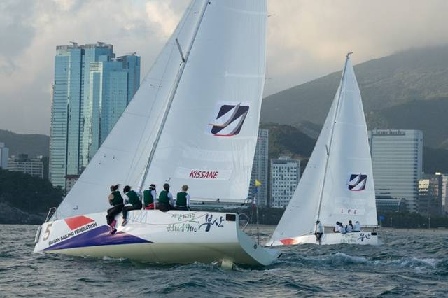 HYC's Diana Kissane and her crew competing in Busan, Korea this week