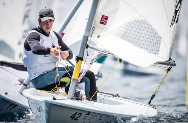 Finn Lynch was 16th overall in a light wind Hyeres Regatta