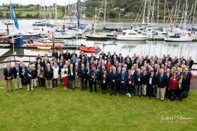 Delegates of the 2019 World Forum of the International Council of Yacht Clubs at Royal Cork