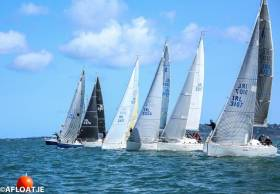 A 100% turnout for the 31.7 fleet but no racing due to lack of wind on Dublin Bay