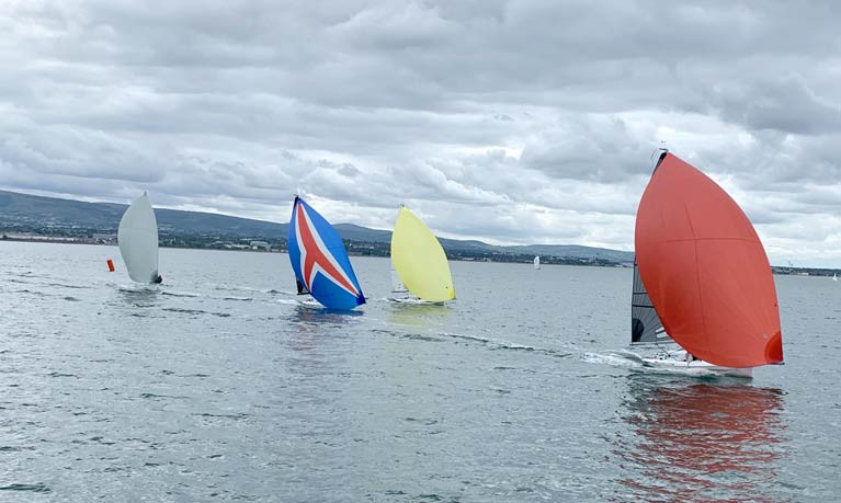 A close finish for DBSC SB20s today after three rounds of the course