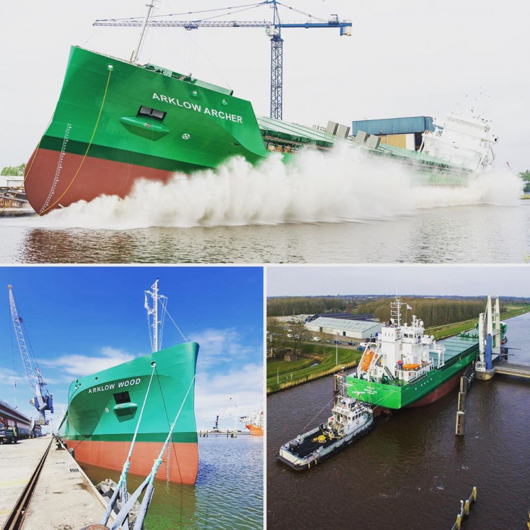 Arklow's Latest Newbuild 'Archer' Heads For the Sea