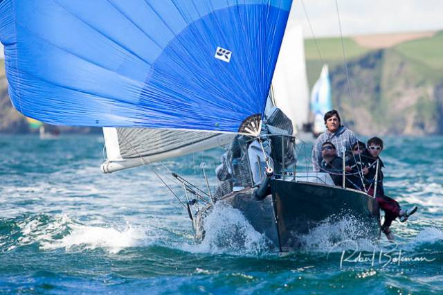 Anthony O'Leary's Antix Beag, from Royal Cork, a customised 1720 is sailing in class two of the ICRA Nationals in Galway