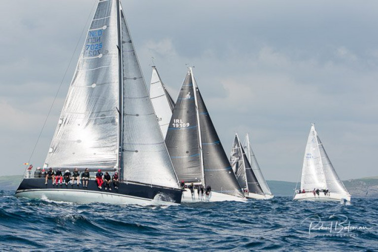 Class 0 start on the first day of the 2019 Sovereign's Cup off Kinsale