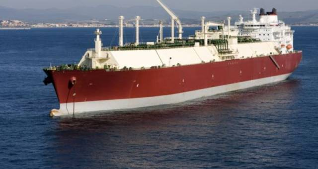 NextDecade plans to supply one third of Ireland's natural gas requirements. Above a liquid natural gas (LNG) carrier in which the Port of Cork is capable of handling such large ships.