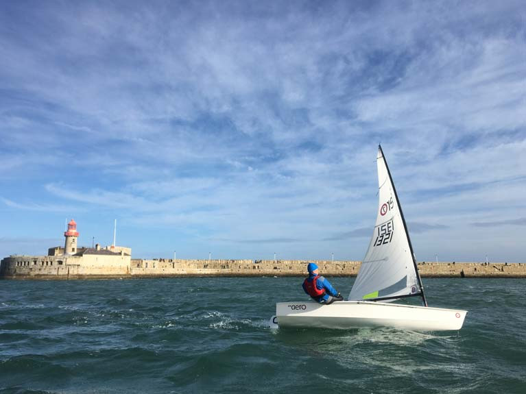 Testing the Aero out in big breeze a couple of weekends ago in Dun Laoghaire harbour