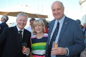 From left to right RIYC Commodore Joe Costello, Denise Rigney and Pat Rigney (RIYC Regatta sponsors and owners of Drumshambo Gunpowder Irish Gin) which is distilled in the shed distillery in Leitrim