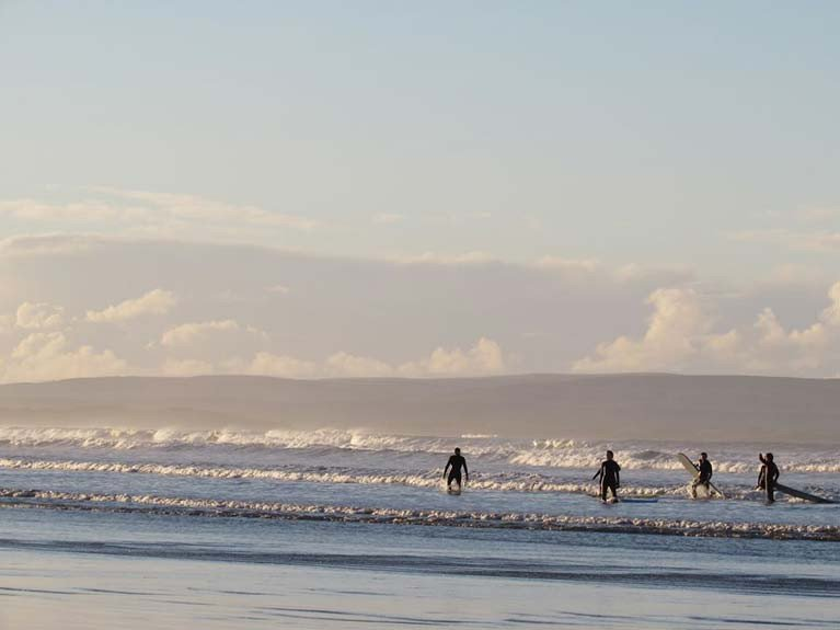Surfing in County Mayo