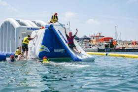 The inflatable obstacle course opens in Dun Laoghaire's Coal Harbour this week