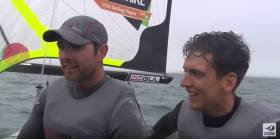 Matt McGovern and Ryan Seaton face the media after the finish line error in Weymouth. Scroll down to replay the race and post race interview below