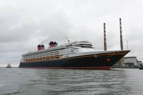 Disney Magic arrives in Dublin Port this morning on her maiden voyage to Irish shores