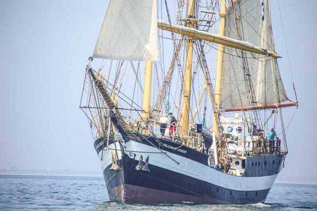 The six-day Sail Training voyage is aboard the Tall Ship Pelican of London