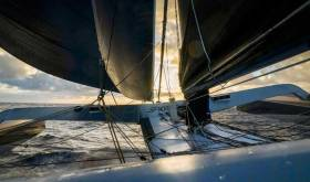 Spindrift 2 - her record bid is powered by North Sails 3Di sails