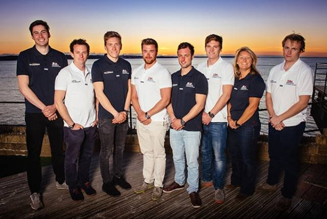 Eight British Artemis Offshore Academy skippers competing on the Classe Figaro Bénéteau Circuit in 2016.
