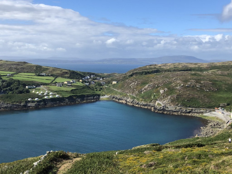 Stunning setting of Cape Clear Island off the south-west coast of Cork which too forms an impressive backdrop.