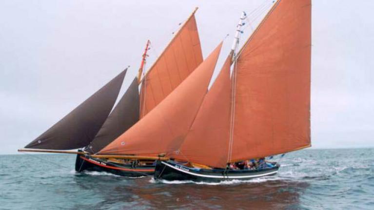 Galway Hookers racing off Connemara