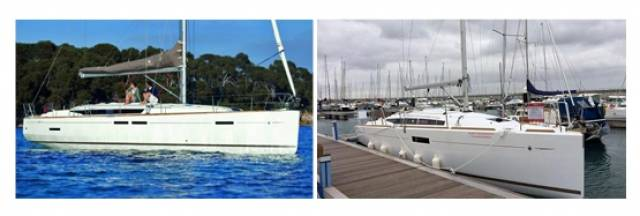 2016 models of Jeanneau's Sun Odyssey 349 (right) and 449 sailing cruisers are on the Irish market from €144,900 and €227,500 respectively through MGM Boats